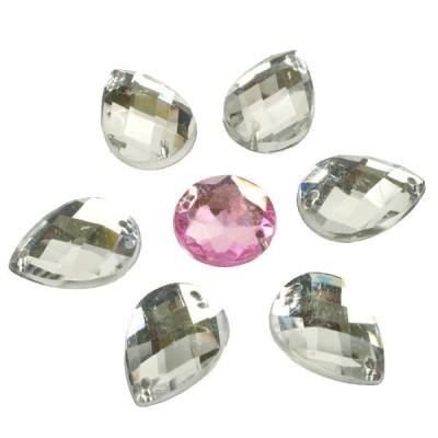 Csepp 14 x 10 mm Crystal varrható Akrilia kövek