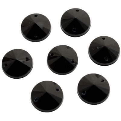 12mm Rivoli FEKETE varrható Akril kristály