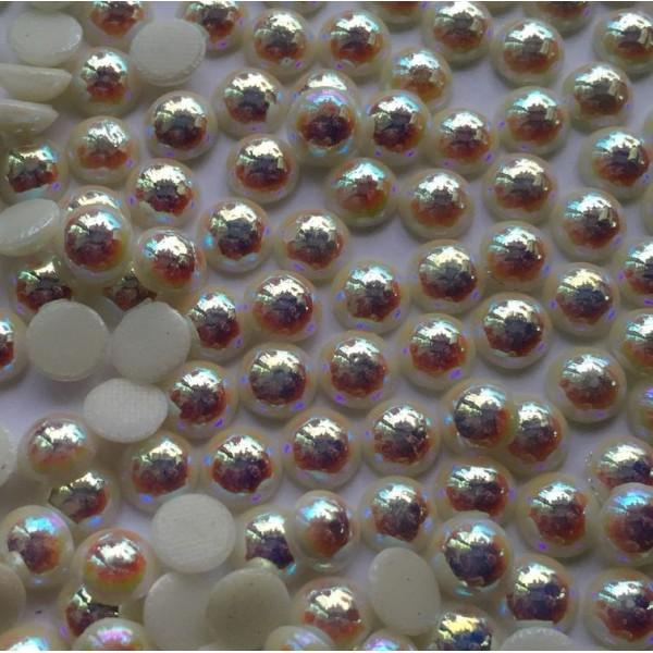 ss16 / 3,7mm Crystal AB White Pearl félgyöngy