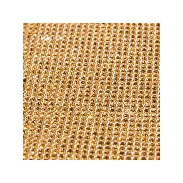 Arany strassz kristály gyémánt szalag 23,5 cm