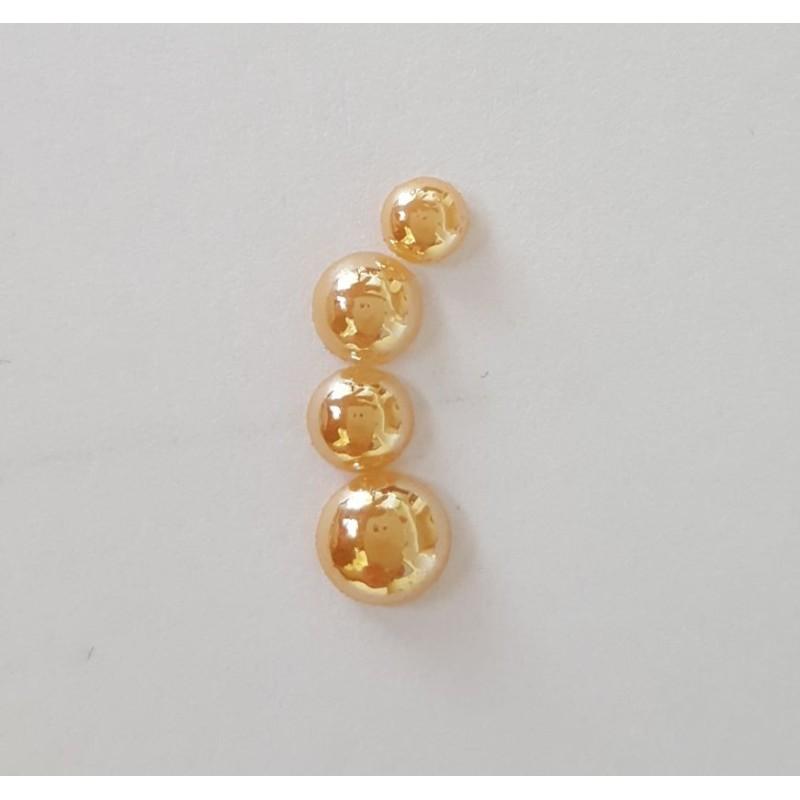 8 mm Gold Pearl gyöngyház AB félgyöngy