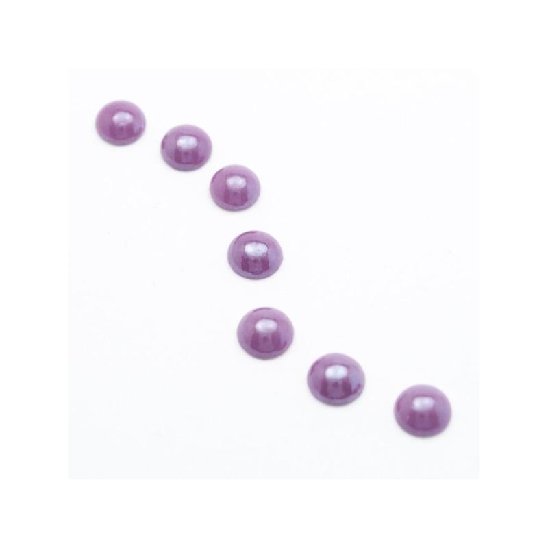 6 mm Lila Pearl gyöngyház AB félgyöngy