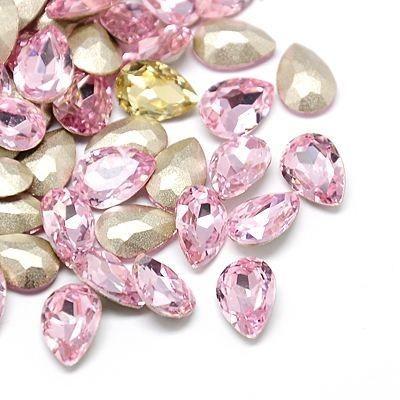 lt Rose 18 x 13 mm foglalatos kristály CSEPP
