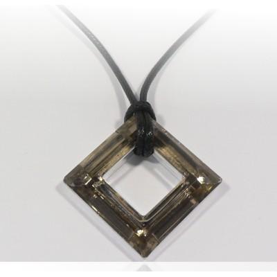 Négyzet medál 4439 Crystal Bronze 30 mm