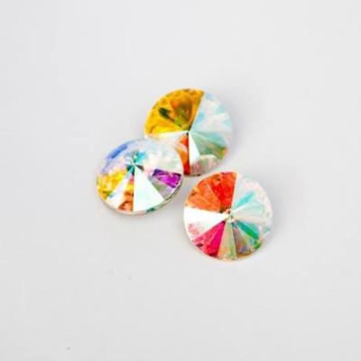 Crystal AB 18 mm RIVOLI foglalatos kristály