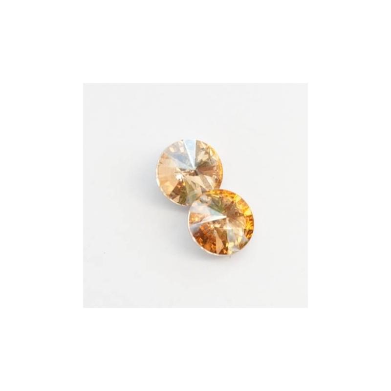Golden Shadow 12 mm RIVOLI foglalatos kristály