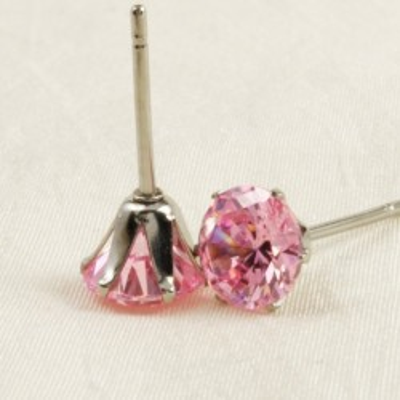 Pink Cirkonia fülbevaló
