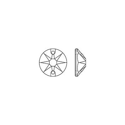 20 db X - csiszolású 10 mm Crystal AB, varrható szintetikus kristály