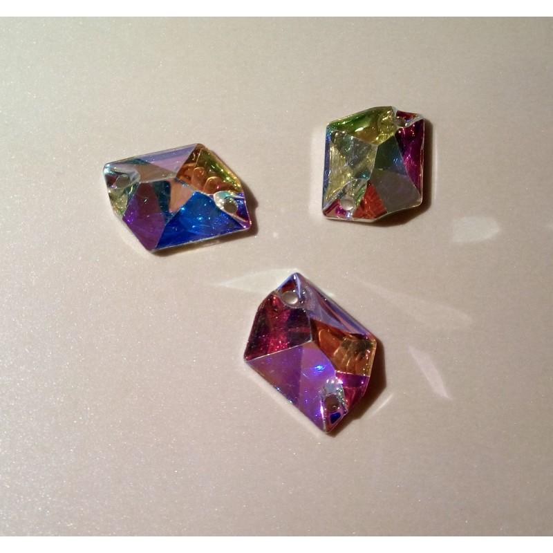 10 db Cosmic 26 x 21 mm Crystal AB, varrható szintetikus kristály