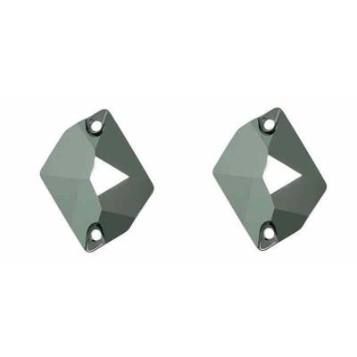 Több minőség! Cosmic 17 mm Jet Hematite varrható üveg kristály