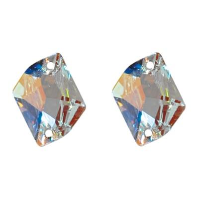 Több minőség! Cosmic 17 mm Crystal AB varrható üveg kristály