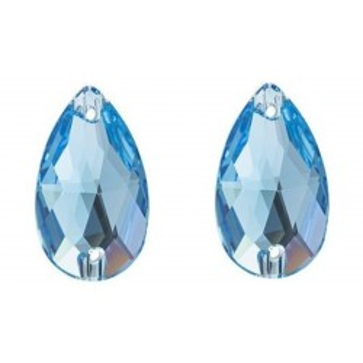 Csepp 18 mm Aquamarine varrható üveg kristály