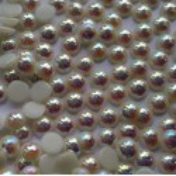 3 mm ss10 Crystal AB White Pearl félgyöngy