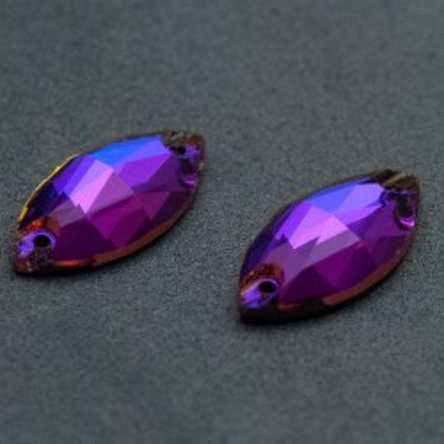 + DiamonD + navette 18 mm Meridian Blue varrható üveg kristály
