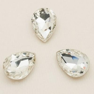 Csepp 18 x 13 mm foglalatos kristály Crystal 001